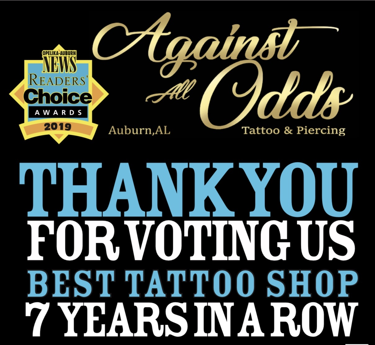 Read more about the article Voted Auburn's #1 Tattoo & Piercing Studio